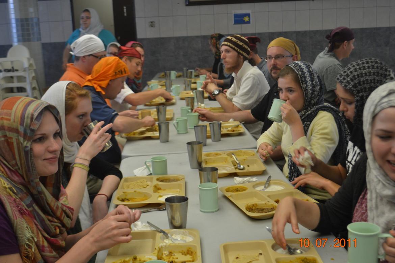 Enjoying Sikh hospitality