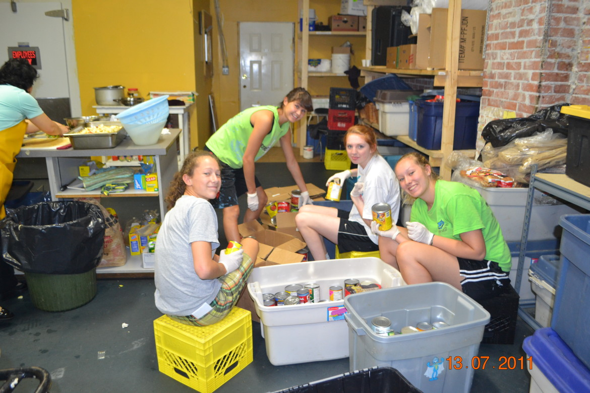 Creating an organized food bank