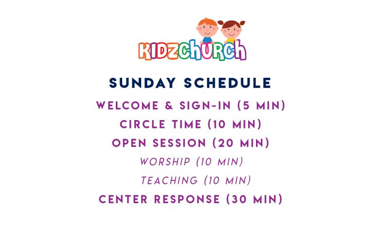 KidzChurch Sunday Schedule