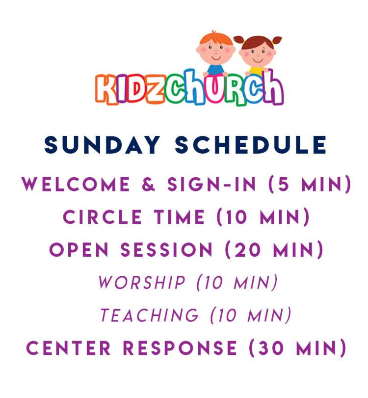 KidzChurch Sunday Schedule
